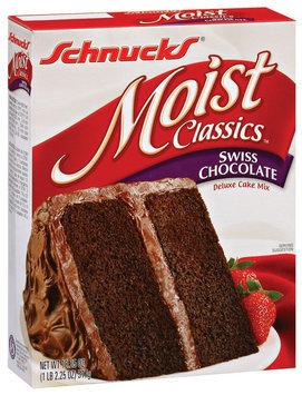 Schnucks Swiss Chocolate Deluxe Cake Mix Moist Classics 18.25 Oz Box