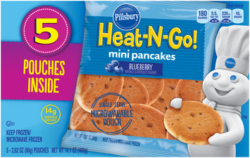 Pillsbury® Heat-N-Go! Blueberry Mini Pancakes 5-2.82 oz. Pouches