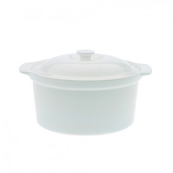 Maxwell & Williams White Basics Round Casserole Capacity: 109 Ounce