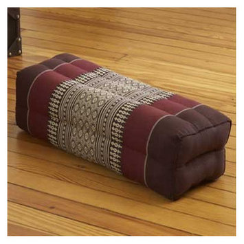 My Zen Home Yoga Bolster Color: Brown / Burgundy
