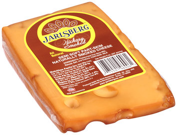 Jarlsberg® Hickory Smoked Semi Soft Part-Skim Naturally Smoked Cheese Pre-Cut 8 oz. Wedge, Exact Weight