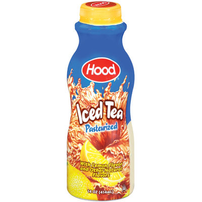 Hood Natural Lemon Flavor Iced Tea 1 Pt Plastic Bottle