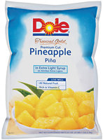 Dole Tropical Gold Premium Cut In Extra Light Syrup Pineapple 81 Oz Pouch