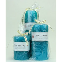 Mill Valley Candleworks 3 Piece Floral Seaside Scented Pillar Candle Set Size: 4