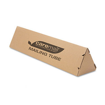 Caremail Triangle Mailing Tube- Kraft - 12/Pack - Brown