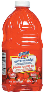 Special Value Apple Strawberry Delight Beverage 64 Fl Oz Plastic Bottle