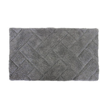 Sherry Kline Basket Weave Bath Rug Color: Grey
