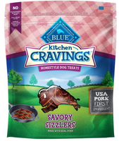 THE BLUE BUFFALO CO. BLUE™ Kitchen Cravings™ Pork Sizzlers Homestyle Dog Treats
