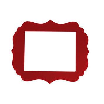 Secretly Designed London Frame Size: 16x20, Color: Barn Red