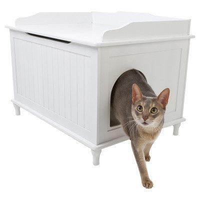Designer Pet Products White Litter Box DCB-W