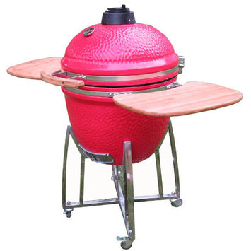 Rta Home And Office Kahuna Grills 23 in. Ceramic Smoker Grill - Red