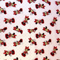 Stwd Minnie Mouse Crib Sheet