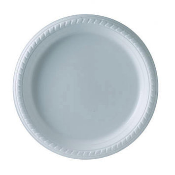 Solo Inc. Plastic Plates Solo, 9 Inches, White, Round, 25/Pack