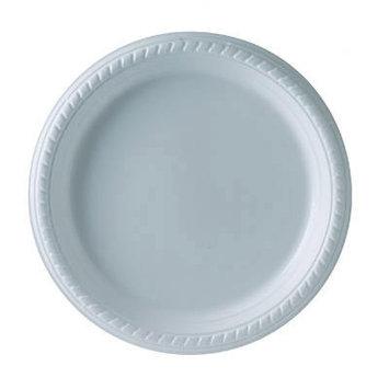 Solo Inc. Plastic Plates Solo, 9 Inches, White, Round, 25/Pack