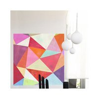 Greenbox Art Pretty Pink Prisms Wall Mural