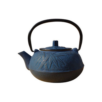 Old Dutch Intl Old Dutch 1012BL Blue Cast Iron Osaka Teapot 20 Oz.