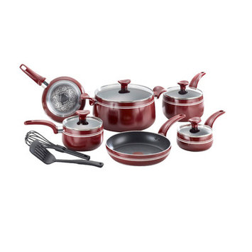 Groupe Seb T-Fal Matisse Red Nonstick 12-piece Set