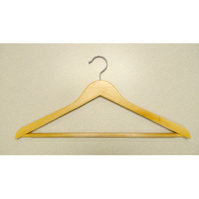 Proman Products GNB9046 Genesis Flat Big and Tall Hangers - Natural -Pack of 50