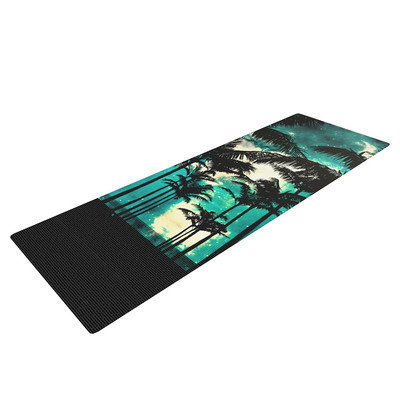 Kess Inhouse Palm Trees and Stars by Caleb Troy Yoga Mat