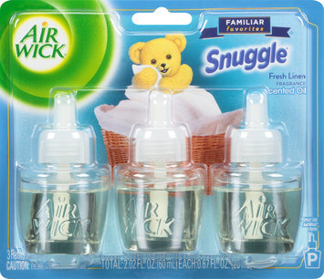 Air Wick® Snuggle® Fresh Linen Scented Oil Air Freshener Refills 3-0.67 fl. oz. Bottles