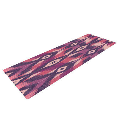 Kess Inhouse Purple Ikat by Amanda Lane Yoga Mat