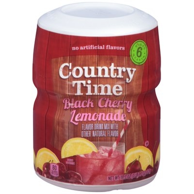 Country Time Black Cherry Lemonade Drink Mix 18.3 oz. Canister