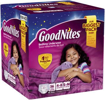 GoodNites® Girl's Bedtime Underwear Small/Medium 56 ct Box