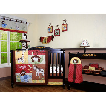 Geenny Boutique Amazon Jungle Animal 12 Piece Crib Bedding Set