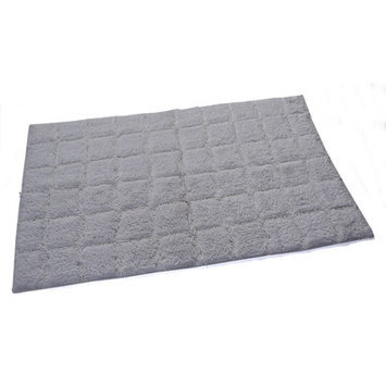 Textile Decor Castle 100% Cotton Summer Tile Spray Latex Back Bath Rug, 34 H X 21 W, White