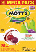 Mott's® Fruity Centers Mixed Berry Fruit Flavored Snacks 20-0.9 oz. Pouches
