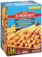 El Monterey® Chicken & Cheese Taquitos 54 ct Box