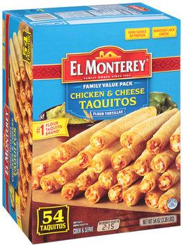 El Monterey® Chicken & Cheese Taquitos 54 ct Box