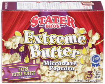 Stater Bros. Extreme Butter Extra Extra Butter 3.5 Oz Microwave Popcorn 3 Ct Box