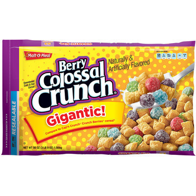 Malt-O-Meal® Berry Colossal Crunch® Cereal 56 oz. ZIP-PAK®