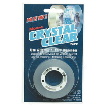 Moore Crystal Clear Tape 3/4 in. x 1296 in. refill with 1 in. core
