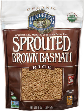 Lundberg Family Farms® Organic Sprouted Brown Basmati Rice 16 oz. Pouch