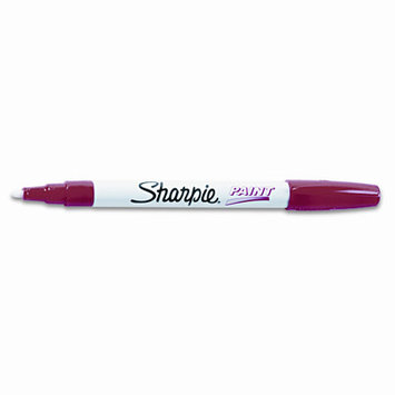 Foohey 37302 - Permanent Paint Marker, Fine Point, Red