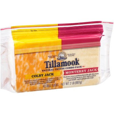 Tillamook® Colby Jack & Monterey Jack Deli Cheese Slices 2 lb. Pouch