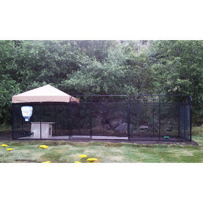 K9 Kennel Ultimate Welded Wire Steel Modular Yard Kennel Color: Camouflage, Size: 72