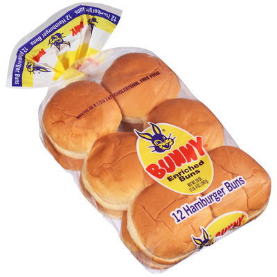Bunny® Hamburger Buns 12 ct Bag