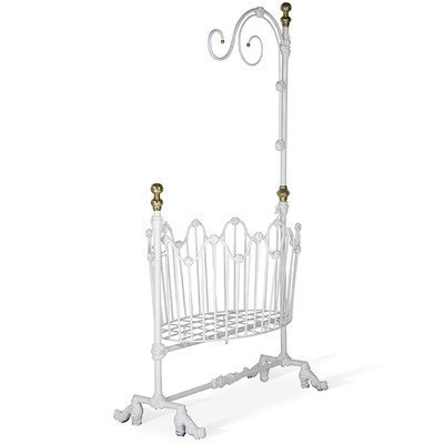 Corsican Dynasty Cradle Color: Antique White Gloss
