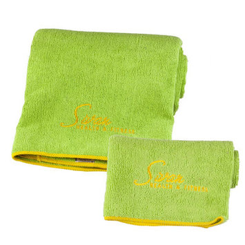 Ggi International Yoga Towel and Hand Towel 2 Piece Set Color: Lime