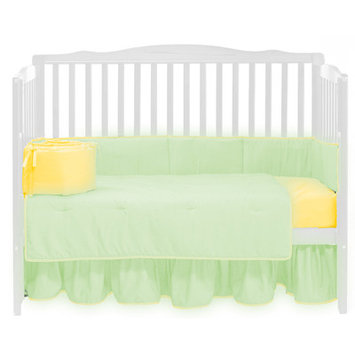 Baby Doll Bedding Solid 4 Piece Crib Bedding Set Color: Mint/Yellow