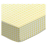 Stwd Gingham Jersey Fitted Bassinet Sheet