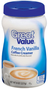 Great Value French Vanilla Coffee Creamer 8 Oz Pour Spout