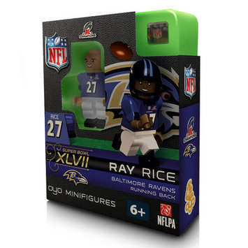 Oyo Sports NFL AFC Champions Building-Toy Figure NFL Player: Baltimore Ravens - Rice