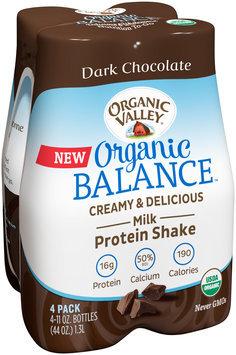 Organic Valley® Organic Balance™ Dark Chocolate Protein Shake 4-11 oz. Bottles