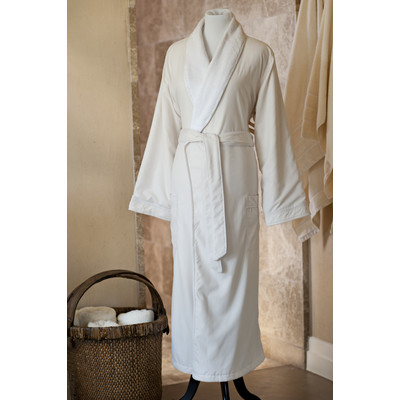 Jennifer Adams Home Essentials Bath Robe, Large, Ivory