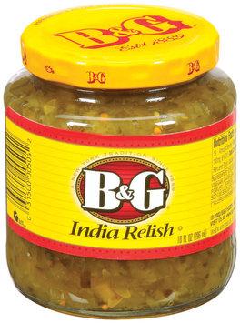 B&G  India Relish 10 Fl Oz Jar