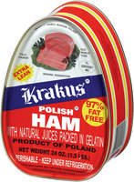 Krakus Polish Ham with Natural Juices Packed in Gelatin 1.5 lb Can
